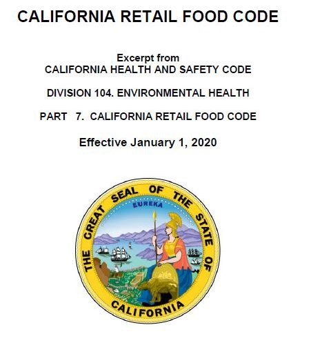 Changes To The CA Retail Food Code